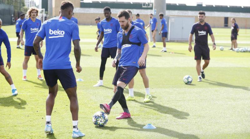 Tras la vuelta a los entrenamientos, Messi en la lista para enfrentar al Dortmund